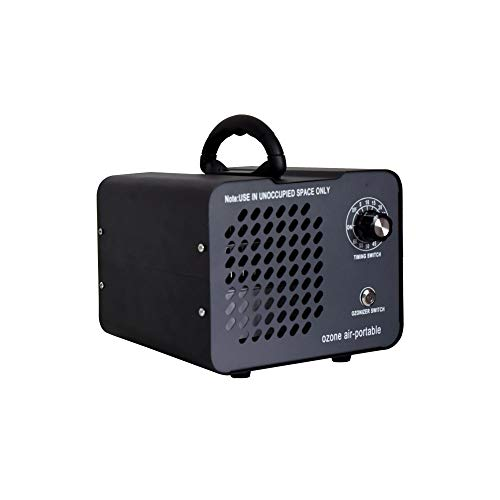 Ozone Air-Portable Industrial Ozone Generator Air Purifier with 3 plates,11000mg/h High Capacity Ozone Machine Ionizer for Home, Car, Recreation vehicle, Boat and Pet-Black