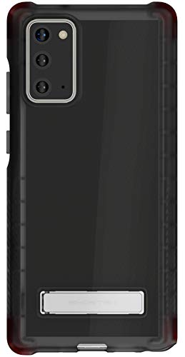 Ghostek Covert Galaxy Note 20 Clear Case with Kickstand and Secure Hand Grip Bumper Super Thin Slim Fit Design and Wireless Charging Compatible Cover for 2020 Galaxy Note20 5G (6.7 Inch) - (Smoke)
