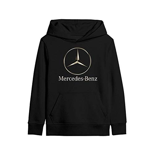 linchen Kids Hoodie Mercedes-Benz-Car-Logo- Heavyweight 3D Print Long Sleeve Fleece Warm Pullover Sweaters