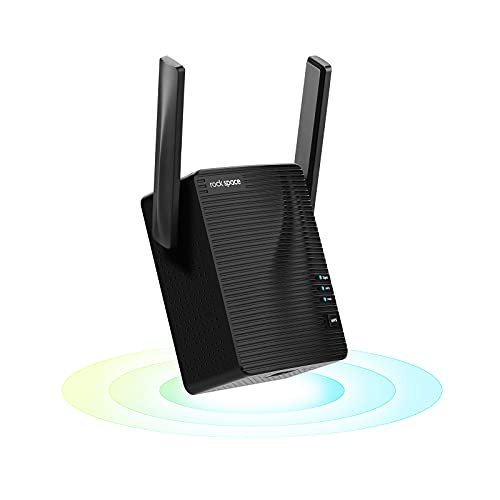 rockspace WiFi Extender - Dual-Band WiFi Range Extender with Ethernet Port, Access Point Mode, WPS Button Setup, 360° Full Coverage, Connected up to 20+ Devices