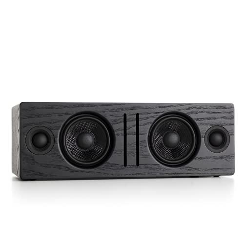 Audioengine B2 Wireless Bluetooth Speaker   Home Music System Desktop Speaker with aptX Bluetooth, 60W Powered Wireless Tabletop Speaker   AUX Audio Input for Phone, Tablet, Computer (Black)