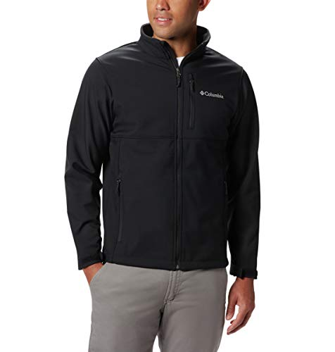Columbia Men's Size Ascender Softshell Jacket, Water & Wind Resistant, Black, 3X Tall