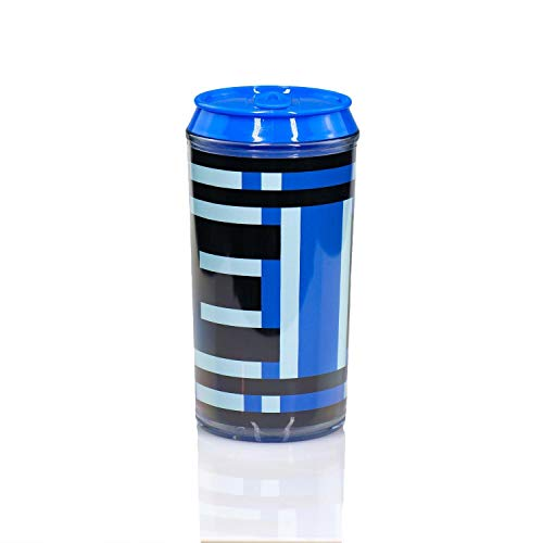 JUST FUNKY Mega Man Official Energy Tank Travel Can | Convient E-Tank Holds Your Favorite Energy Drink Or Beverage