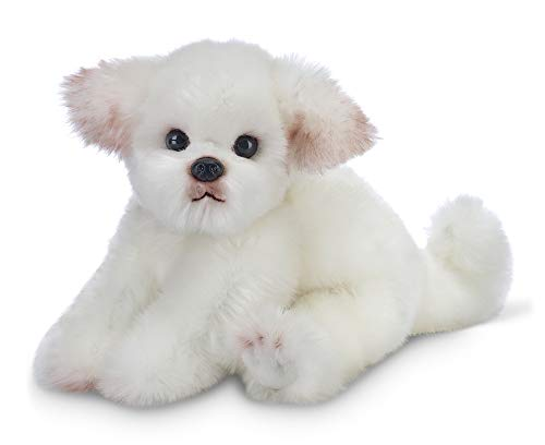 Bearington Angel Maltese Plush Stuffed Animal Puppy Dog, 13 inches