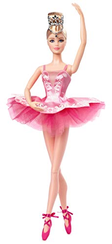 ​Barbie Signature Ballet Wishes Doll, Approx. 12-in Wearing Tutu, Pointe Shoes and Tiara, with Doll Stand and Certificate of Authenticity, Gift for 6 Year Olds and Up