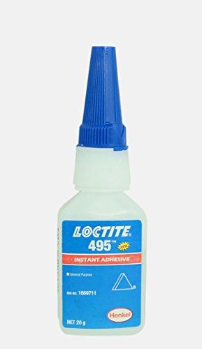 Genuine Henkel Loctite 495 - Super Glue - Instant Adhesive - General Purpose - 20 Gr