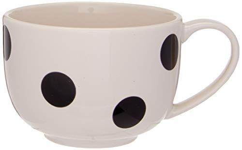 KATE SPADE Black Deco Dot Latte Mug, 0.8 LB