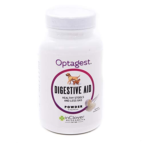 In Clover Optagest Organic Prebiotic and Natural Enzyme Powder for Healthy Stools and Less Gas, Without Foreign Probiotics. Daily Digestive and Immune Support For Dogs and Cats, 3.5oz.