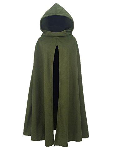 Futurino Women Gothic Hooded Open Front Poncho Cape Coat Outwear Jacket Cloak