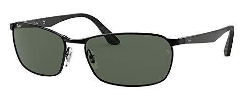 Ray-Ban RB3534 002 59M Black/Green Sunglasses For Men