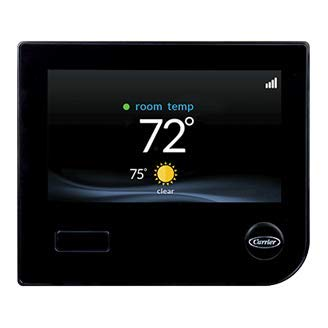 Carrier Infinity SYSTXCCITC01-B Touch Screen Programmable WiFi Thermostat - BLACK