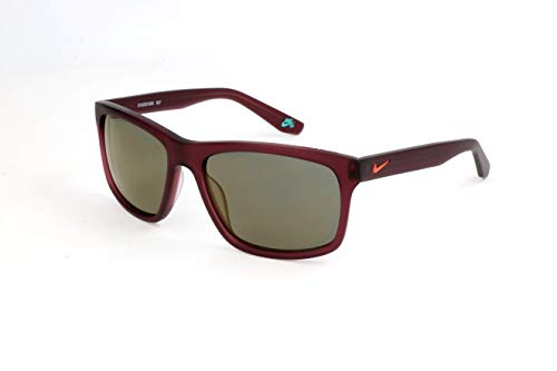 Nike EV1022-605 Flow R Sunglasses (Frame Grey with Triflection Copper Lens), Matte Night Maroon