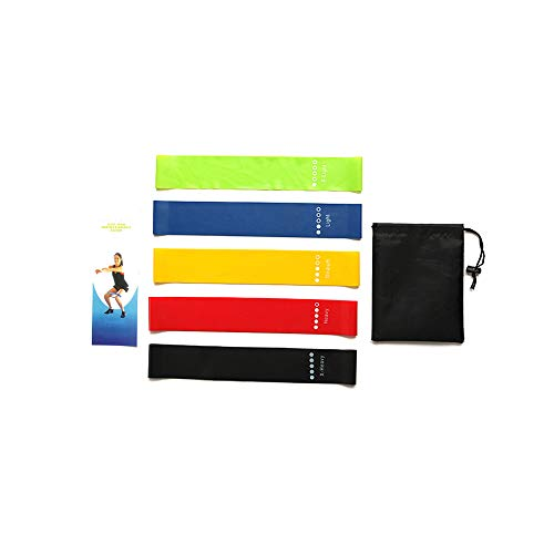 Haisea Resistance Bands- Latex Exercise Bands Resistance-Mini、Legs、arms、Hip、Yoga Resistance Band-Exercise Stretch Bands Resistance-Gym Exercise Bands,Resistance Bands for Men and w