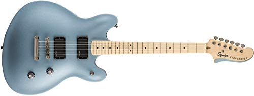 Fender Contemporary Active 6 String Semi-Hollow-Body Electric Guitar, Right, Ice Blue Metallic, Full (0370470583)