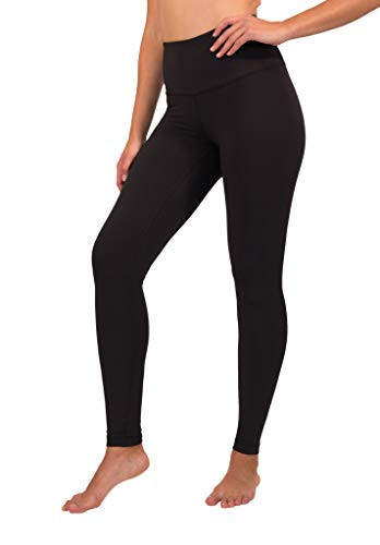 90 Degree By Reflex High Waist Squat Proof Interlink Leggings for Women - Black - Small