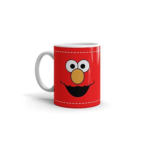 Ceramic White Coffee Mug Elmo Tea Holidays Birthdays Wedding Party Travel Cup 11 Oz 15 For Office Home Dishwasher And Microwave Safe