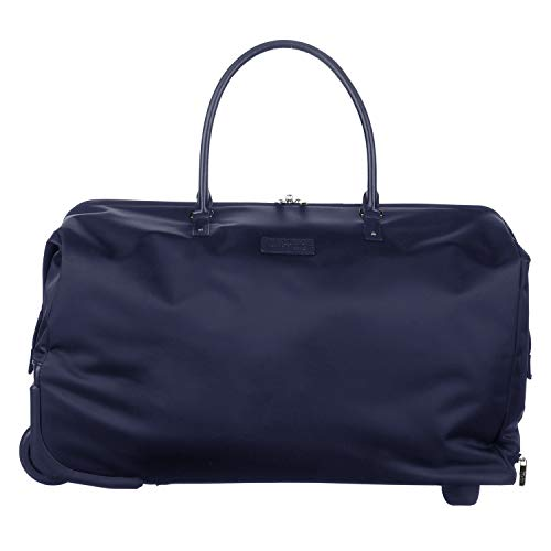 Lipault - Lady Plume Wheeled Weekend Bag - Top Handle Rolling Overnight Travel Duffel Luggage for Women - Navy