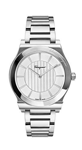 Salvatore Ferragamo Men's Ferragamo 1898 Slim Quartz Watch with Stainless-Steel Strap, Silver, 20 (Model: SFPE00319)