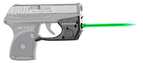 ArmaLaser Designed to fit Ruger LCP TR2G Super-Bright Green Laser Sight with Grip Activation