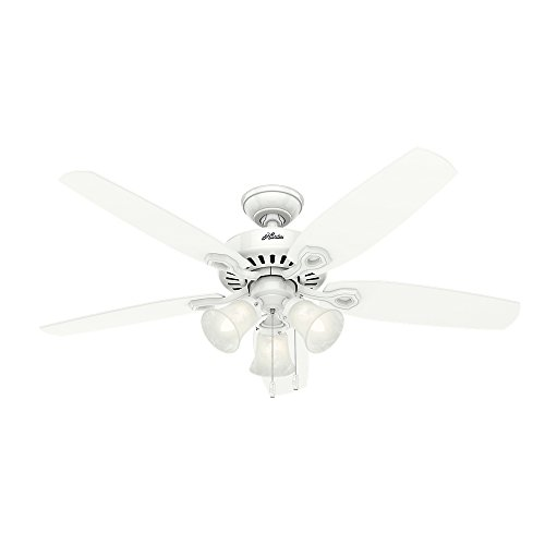 Hunter Fan Company Hunter 53236 Traditional 52``Ceiling Fan from Builder Plus collection finish, Snow White