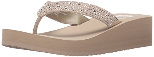 Yellow Box Women's Africa Flip Flop, Taupe, 7.5 M US