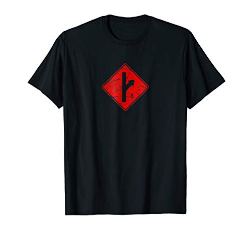MGTOW Road Sign Red Pill Symbol Redpilled Mens Right T-Shirt
