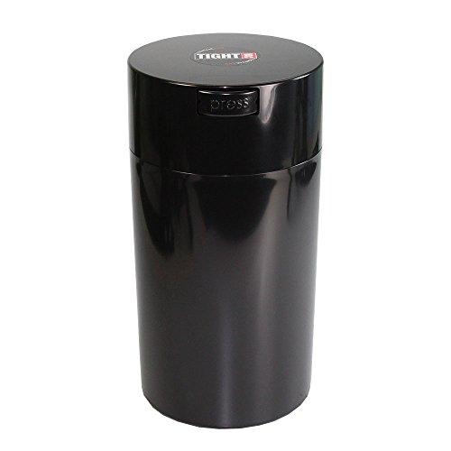 Tightpac America, Inc. Tightvac - 3 to 12 Oz Vacuum Sealed Storage Container, 1.3-Liter/1.1-Quart, Black