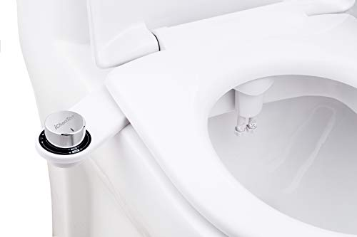 Bidet, iChanTon CT-B01 Non-Electric (Frontal & Rear/Feminine Wash) Bidet Toilet Attachment with Dual Nozzle, Fresh Water Toilet Bidet with Adjustable Water Pressure for Easy Installation