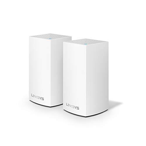 Linksys WHW0102 Velop Mesh Router (Home Mesh Wi-Fi System for Whole-Home Wi-Fi Mesh Network) 2-Pack/ White