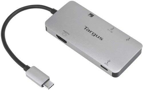 Targus ACA953USZ USB-C Multi-Port Single Video Adapter and Card Reader with 100Watt PD Pass-Thru - Windows - Mac - Chrome - Silver (Renewed)