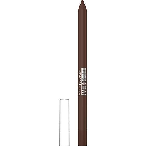 Maybelline TattooStudio Eyeliner Makeup Pencil, Effortlessly Glide On Smooth Gel Pigments With 36 Hour Wear, Waterproof, No Smudging, No Flaking, Smooth Walnut, 0.04 Oz