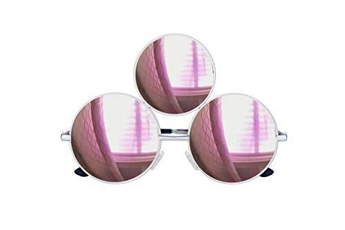 Third Eye Sunglasses Reflective Mirrored Pink Lens