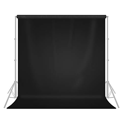 LimoStudio 9' x 13' / 108' x 156' Photo Studio Pure Black Fabricated Backdrop Background Screen for Photo Video Photography Studio, Video and Television, AGG1854
