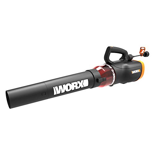 WORX WG520 Turbine 600 Corded Electric Leaf Blower, Black