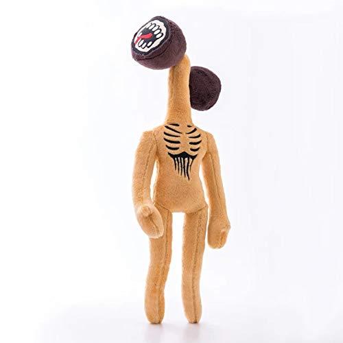 Natseekgo Siren Head Plush Animal Plush Toy,15.7' Soft Stuffed Doll Cartoon Stuffed Animals Doll Hug Holiday Doll Animal Gift (Brown)