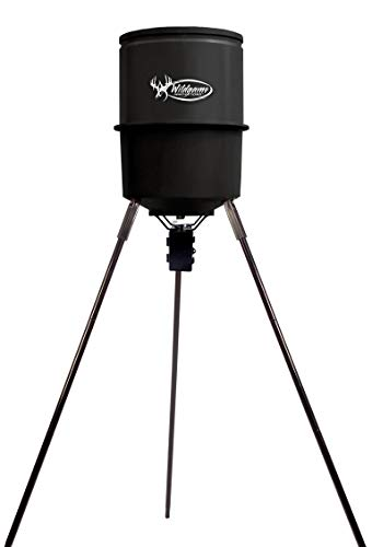 Wildgame Innovations Tri-Pod Deer Feeder, Easy to Use Feeder with 4 Feed Times