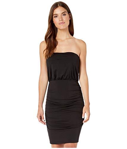 Susana Monaco Strapless Ruched Mini Dress Black MD