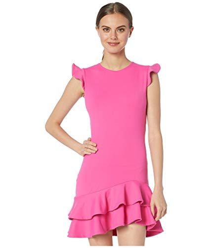 Susana Monaco Sleeveless Ruffle Hem Dress Punch Pink SM