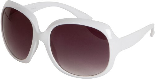 GA4565 Retro Vintage Oversized Frame Fashion Sunglasses - White - Smoke Lens