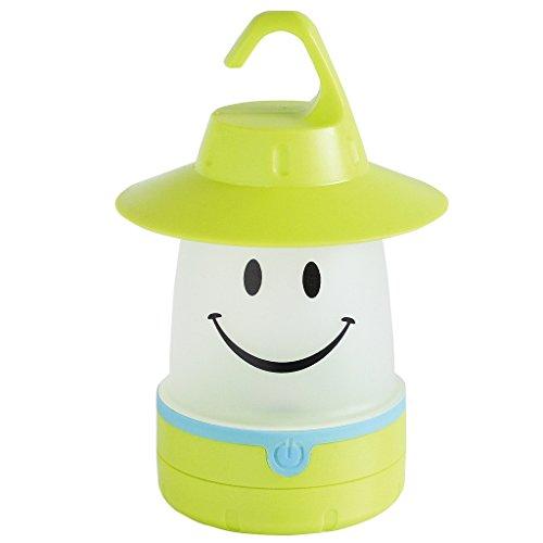 Smile LED Lantern: Portable Night Light Camping Lantern For Kids (Lime)