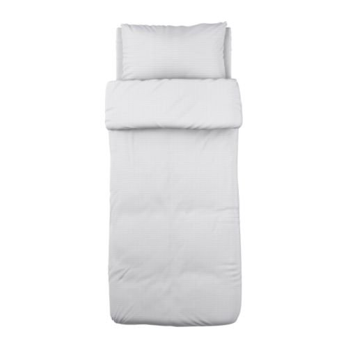 Ikea Ofelia VASS Duvet Cover and Pillowcases, Twin, White