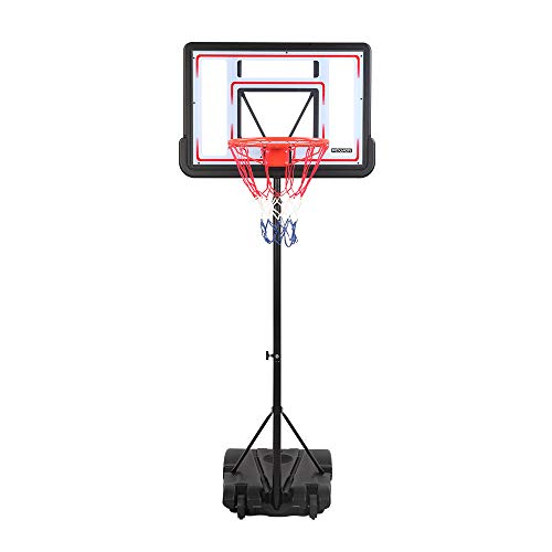 PEXMOR Basketball Hoop Portable Adjustable Height Poolside Basketball Stand System for Youth Kids Teenagers Indoor Outdoor with 32' Width PVC Backboard 2 Nets Wheels