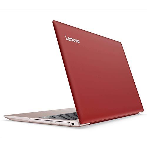 Lenovo Ideapad 320 15.6 inch HD Flagship Premium Laptop PC   Intel Celeron N3350 Dual-Core   4GB RAM   128GB SSD   Bluetooth 4.1   WiFi   DVD RW   Ethernet   Windows 10 Home (Red)