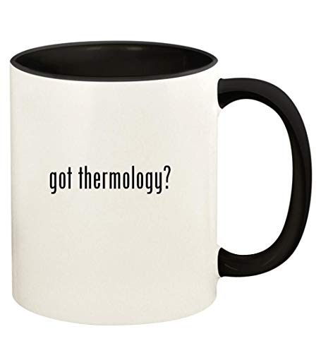 got thermology? - 11oz Ceramic Colored Handle and Inside Coffee Mug Cup, Black