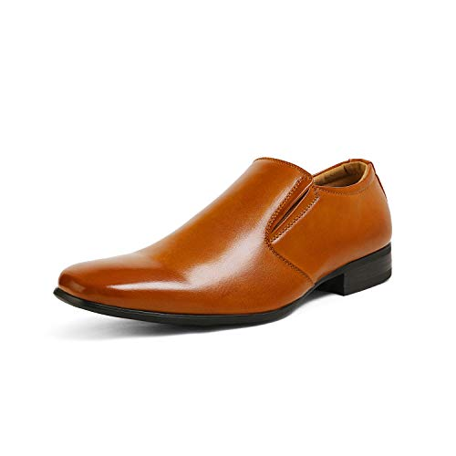 Bruno Marc Men's Leather Lined Dress Loafers Slip-On Shoes Gordon-07 Brown Size 11 M US