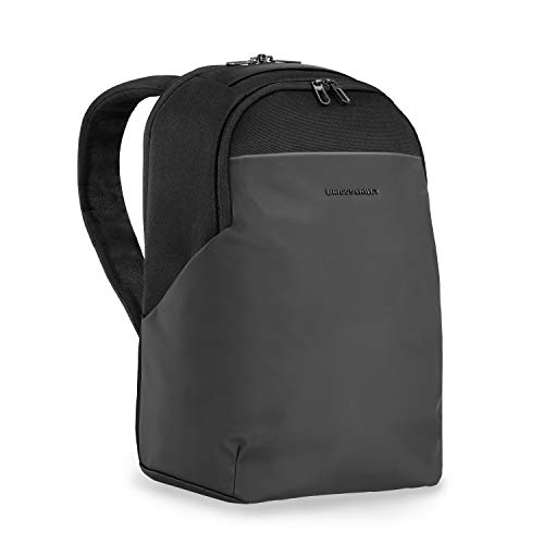 Briggs & Riley Delve Medium Backpack, fits up to 15 inch laptop, Black, 17' x 12' x 6'