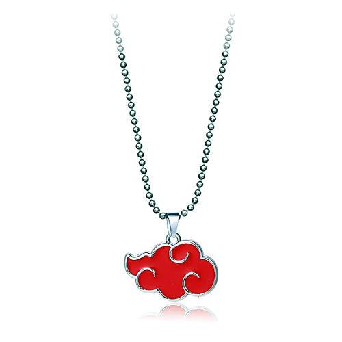 supulu Unisex Cosplay Naruto Pendant Necklace for Women and Man (Akatsuki)