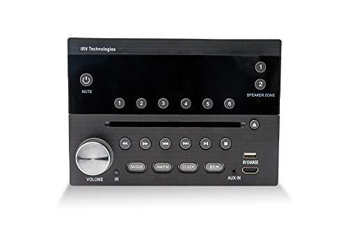 iRV Technology IRV31 Am/FM/CD/DVD Rv Radio Stereo 2 Zones Wallmount Receiver 2.1 Channels Surround, 5'