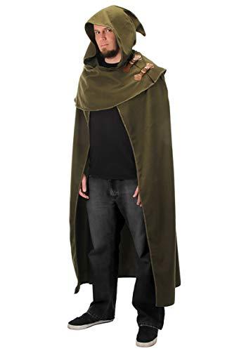 elope Elven Fantasy Cosplay Cloak in Green,Adult