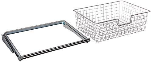Rubbermaid FG3J0501TITNM Configurations Sliding Basket - Titanium